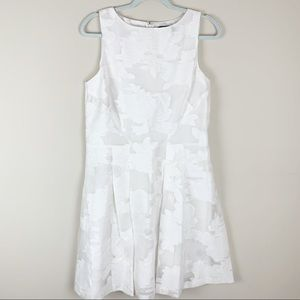 Lauren Ralph Lauren White Floral A-Line Dress 12